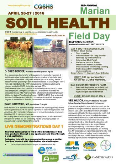 3rd Annual Marian Soil Health Flyer