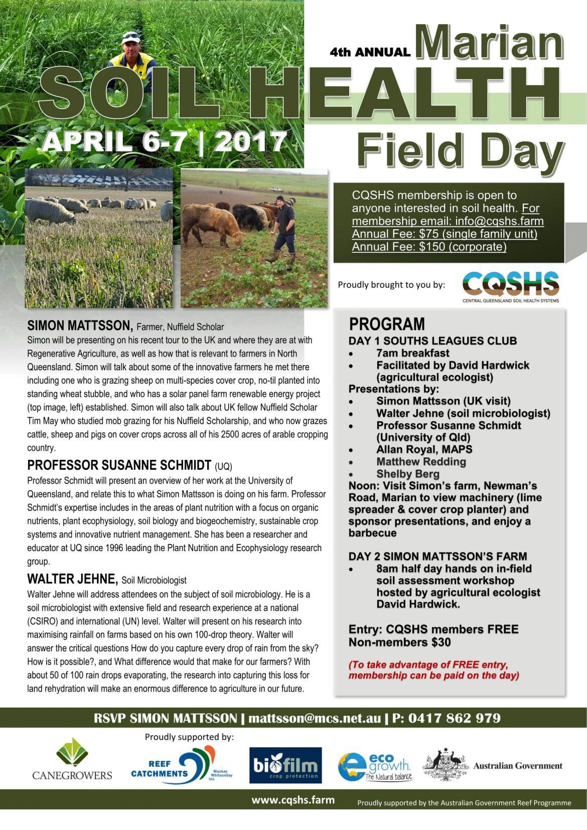 4th Marian Soil Health Field Day