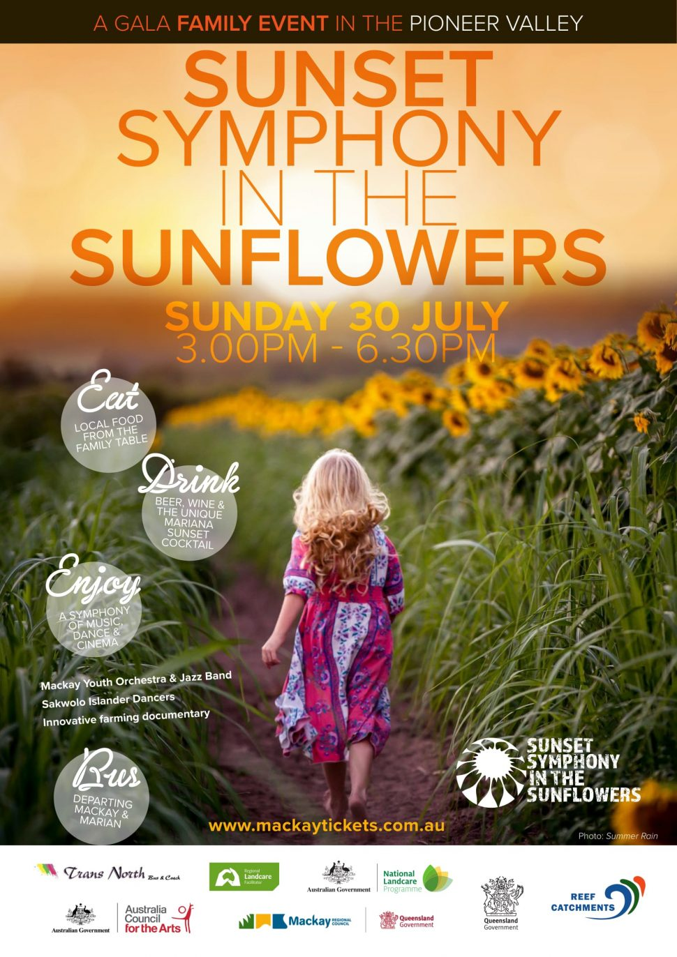 Symphony in the Sunflowers poster